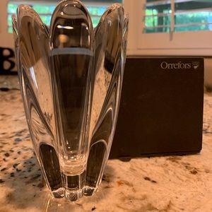Orrefors Mayflower Crystal Vase-New original box